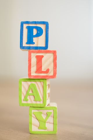 Play letters in cubes