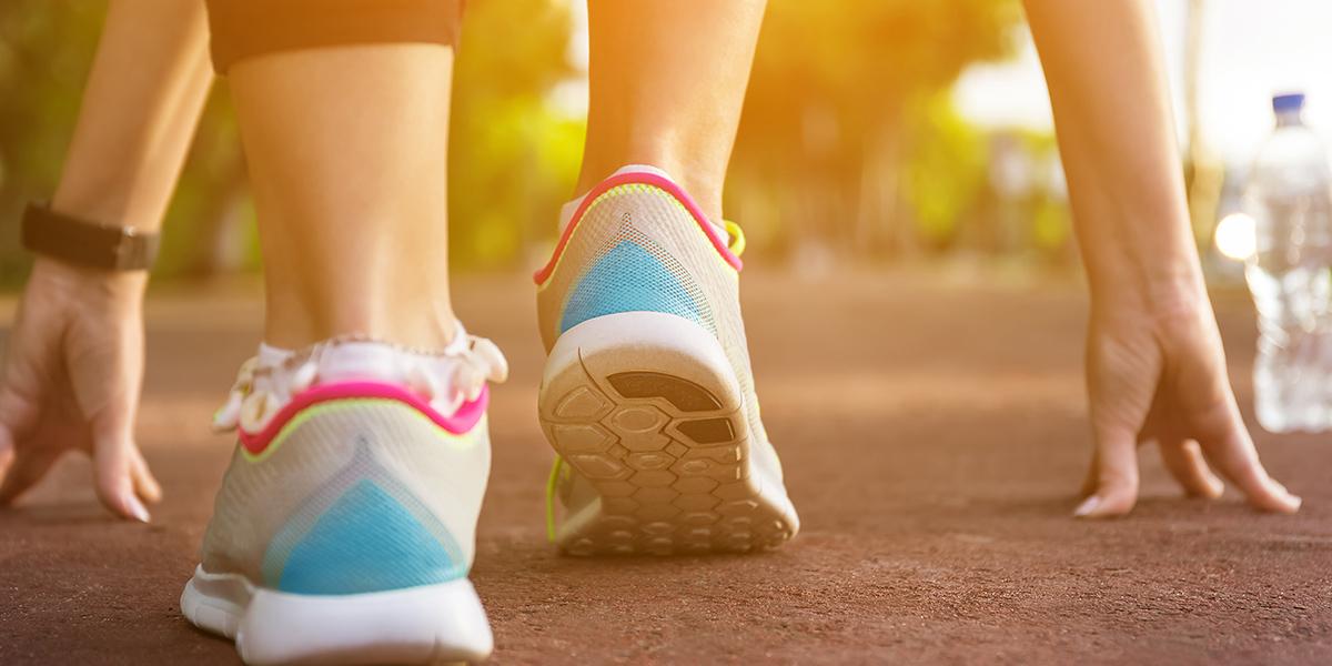 women marching to run