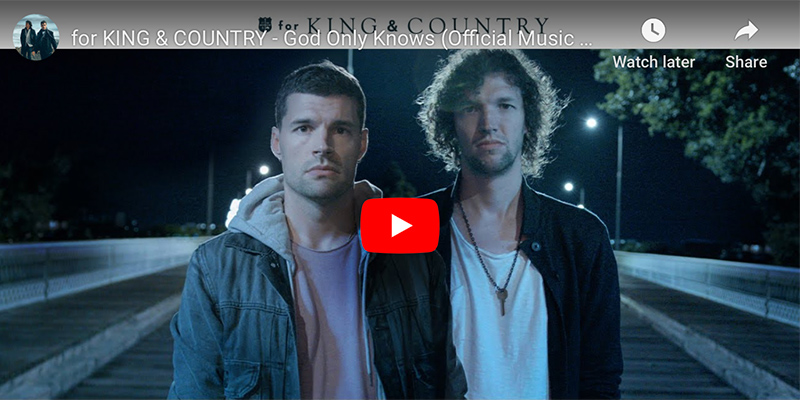 King & Country God Only Knows music video screenshots