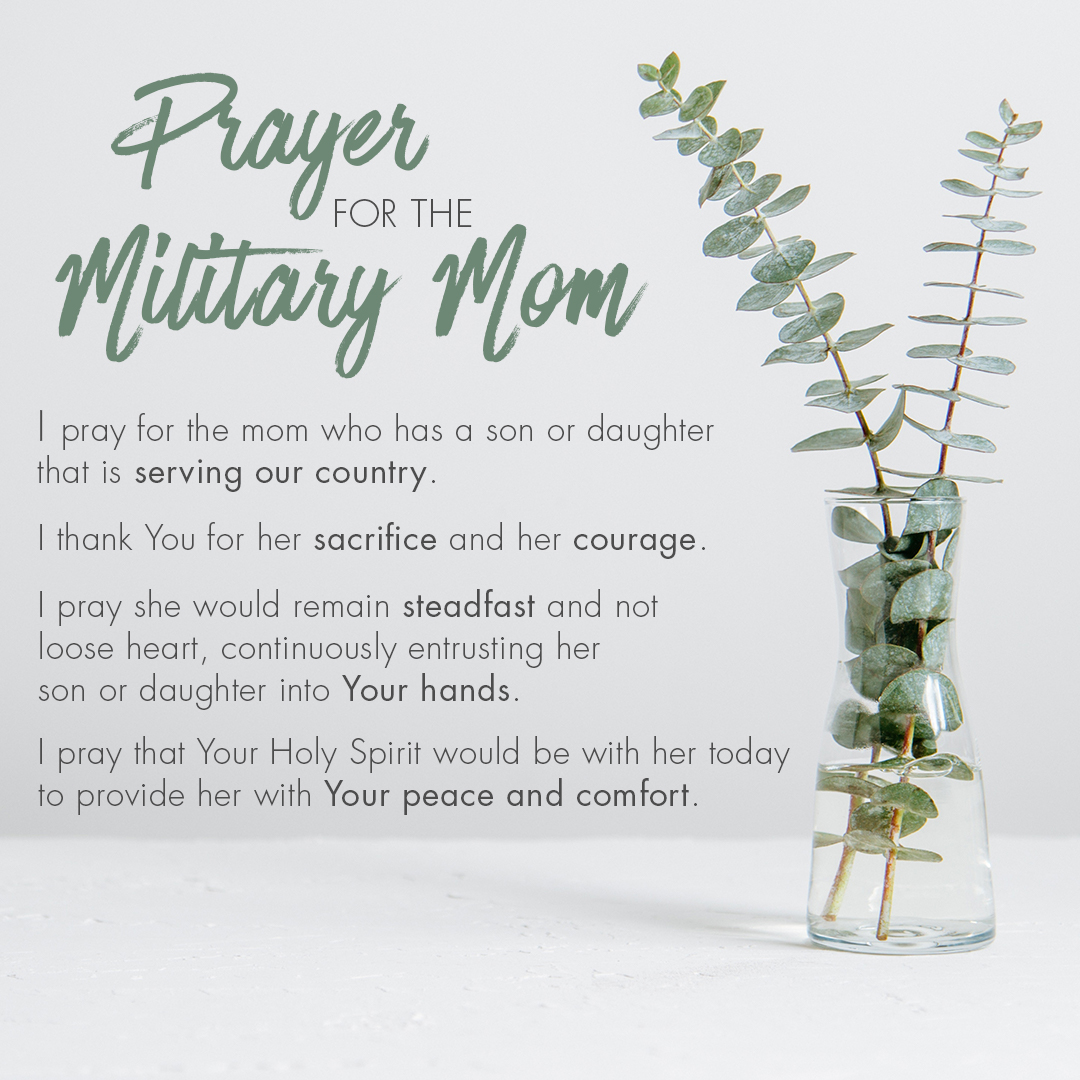 prayer for the military mom text image