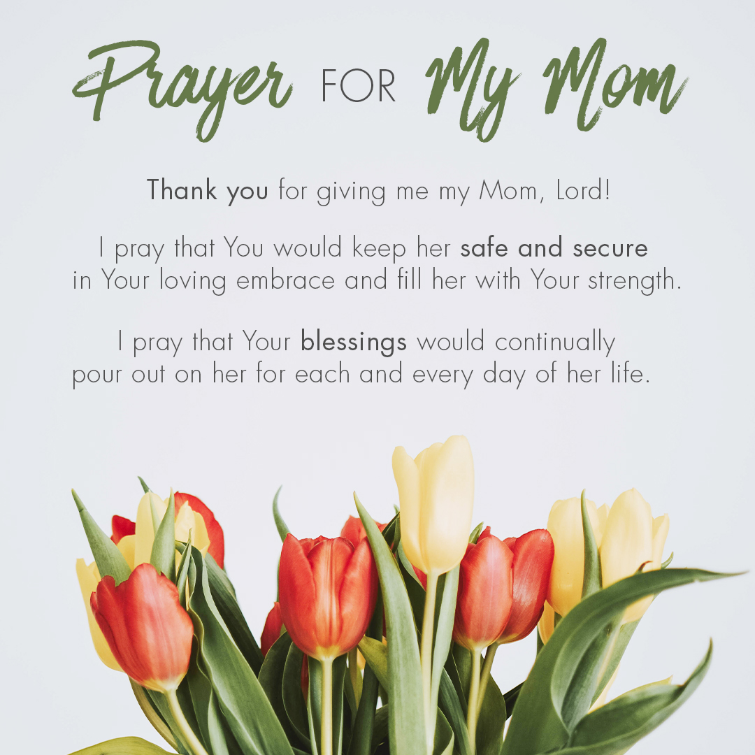 Prayer for My Mom text