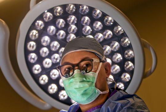 Dr. Demetrio Aguila ready for surgery