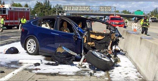 Tesla Vehicle Crash