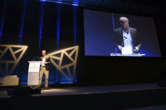 Harry speaks at conference