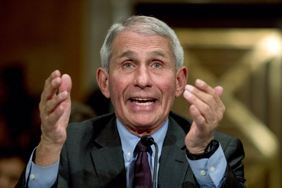 National Institute for Allergy and Infectious Diseases Director Dr. Anthony Fauci testifies before a Senate hearing on the coronavirus
