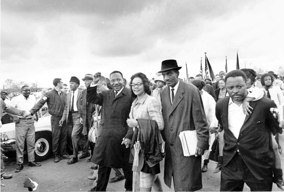 Dr. Martin Luther King Jr. and his wife Coretta Scott King