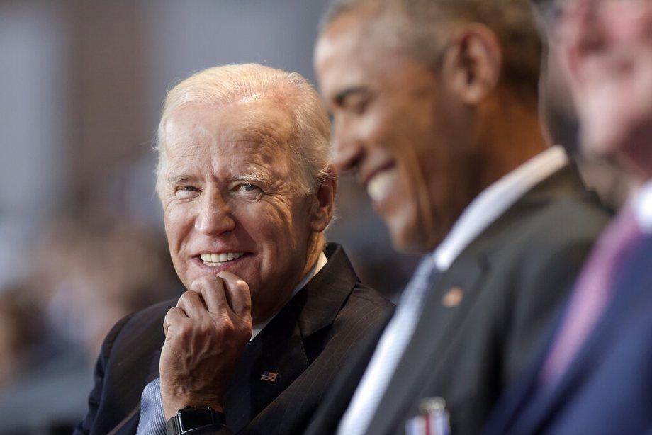 Biden and Obama