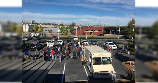 Church at Southside's Rolling Church serving the homeless