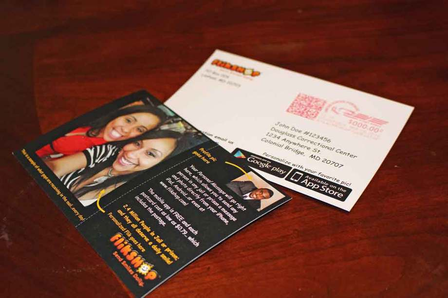 Flikshop is a photo and message service that sends postcards exclusively to incarcerated men and women