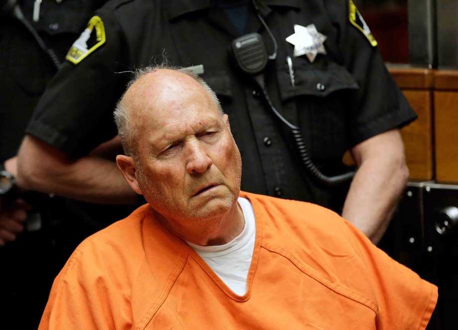 Joseph James DeAngelo, is arraigned in Sacramento County Superior Court in Sacramento, Calif.