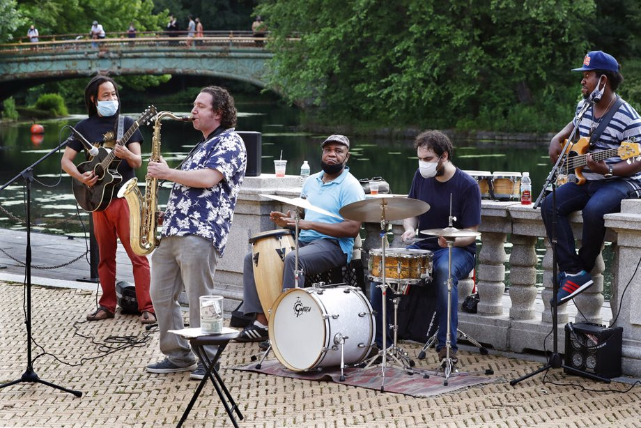 NYC Band Performing In Park