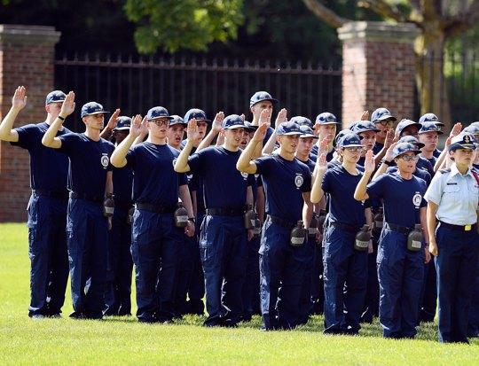 members of the U.S. Coast Guard Academy Class of 2023
