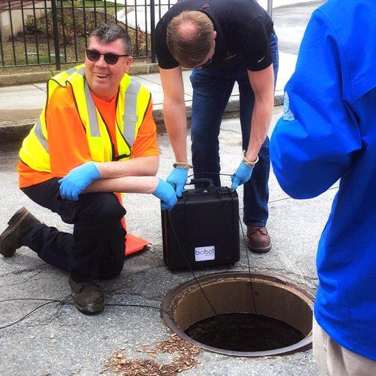 Taking Sewage Sample