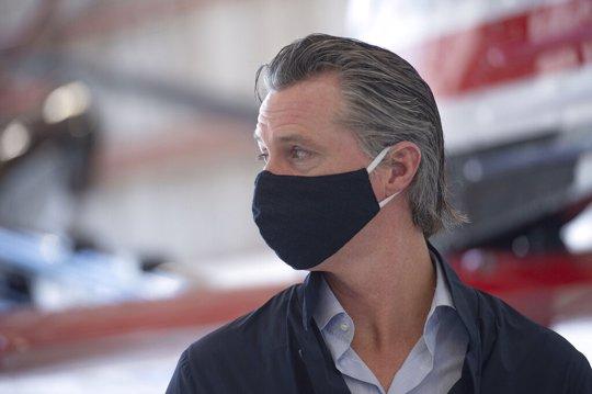 Gov. Gavin Newsom with mask