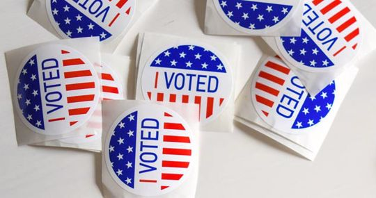 """Several """"I Voted"""" Stickers"""