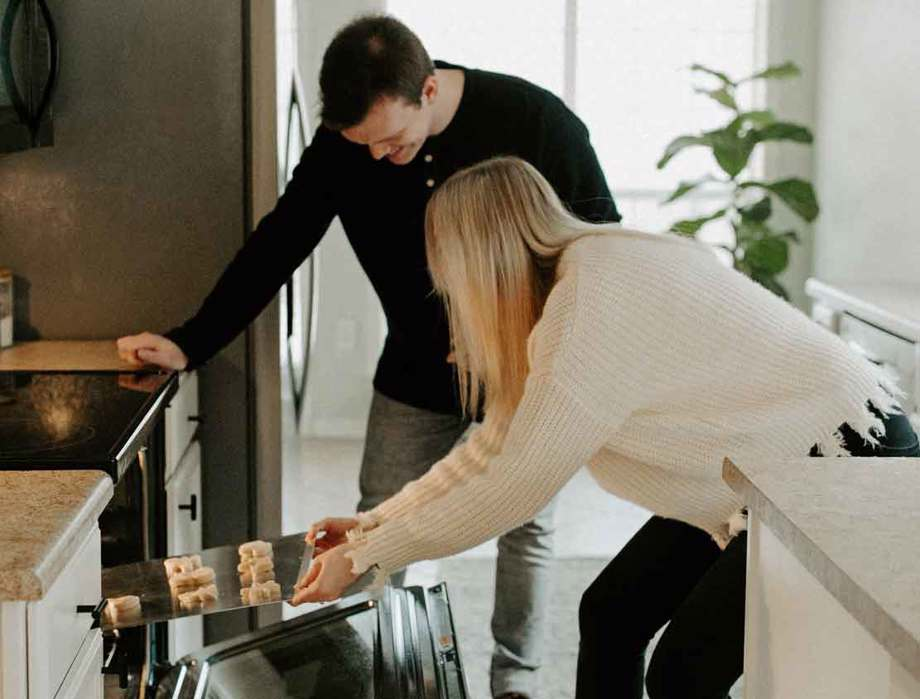 husband & wife baking