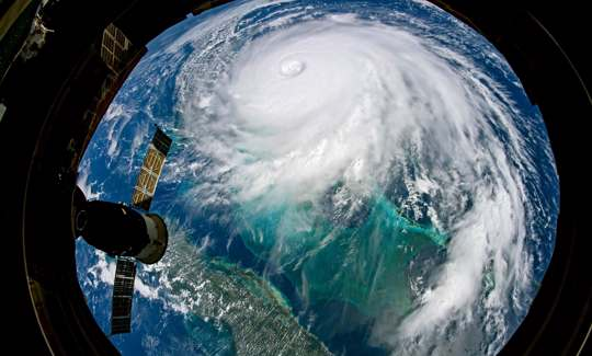 Hurricane Dorian from International Space Station