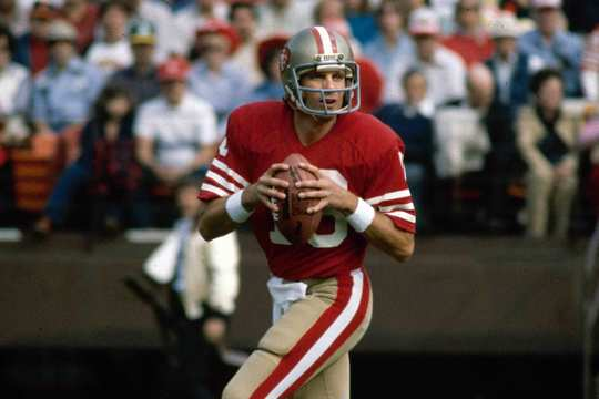 file photo shows San Francisco 49ers NFL football quarterback Joe Montana in San Francisco.