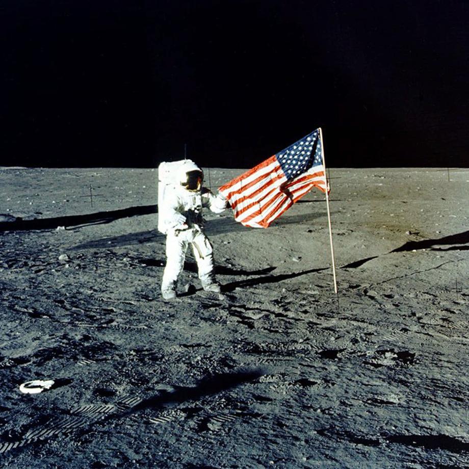 "NASA, Apollo 12 mission Commander Charles P. ""Pete"" Conrad on moon"