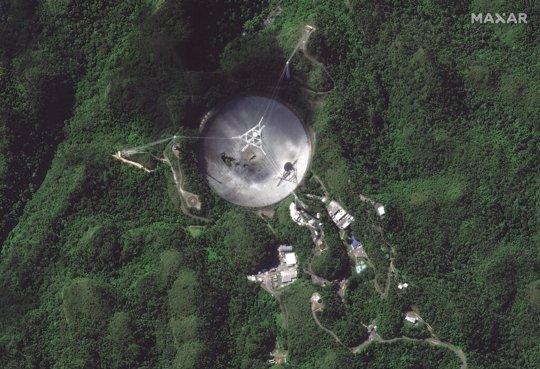 Radio telescope at the Arecibo Observatory in Puerto Rico