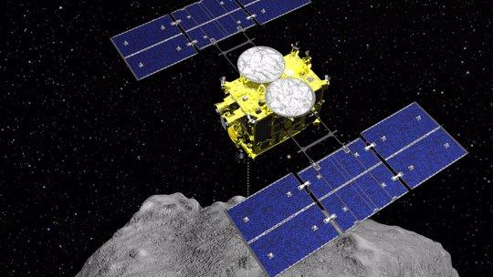 Japan Spacecraft over Asteroid Ryugu