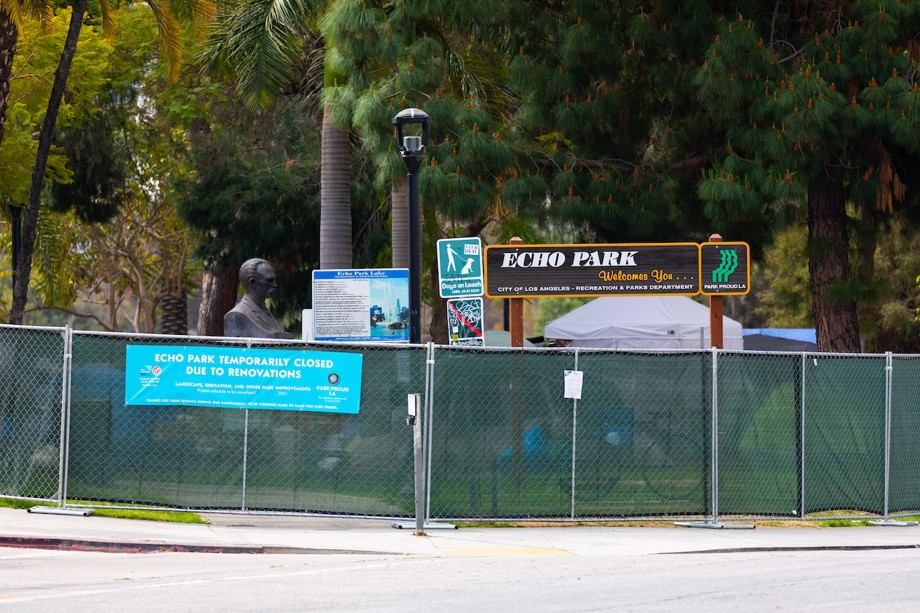 Homeless encampment in Los Angeles' Echo Park cleared and closed