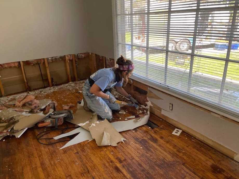 Hope Force International volunteer hard at work