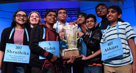 co-champions of the 2019 Scripps National Spelling Bee
