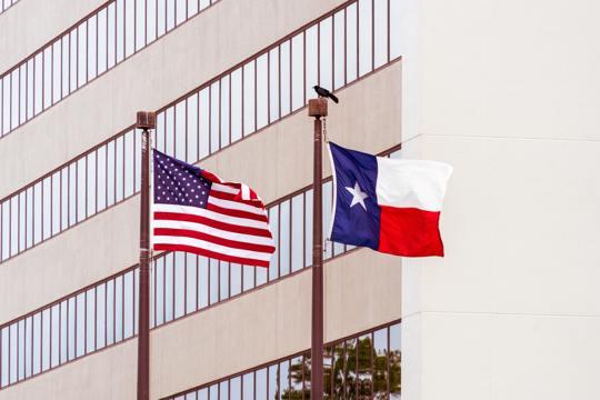 American Texas flag flags