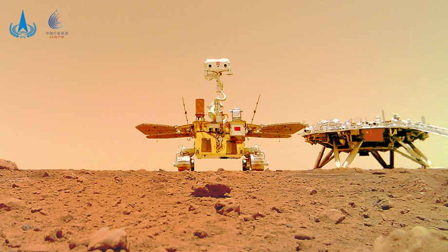 China's Rover On Mars Surface