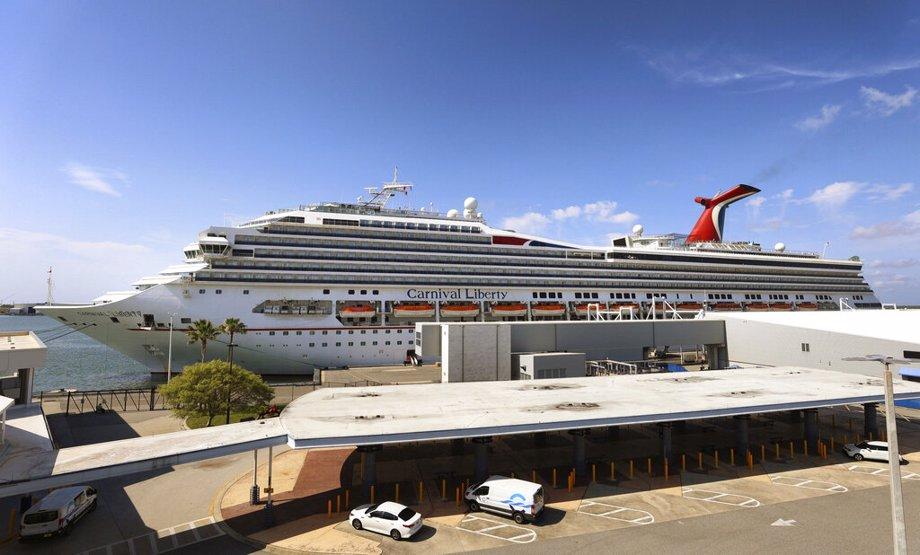 "Carnival Cruise ship ""Liberty"" is docked at Port Canaveral, Florida"