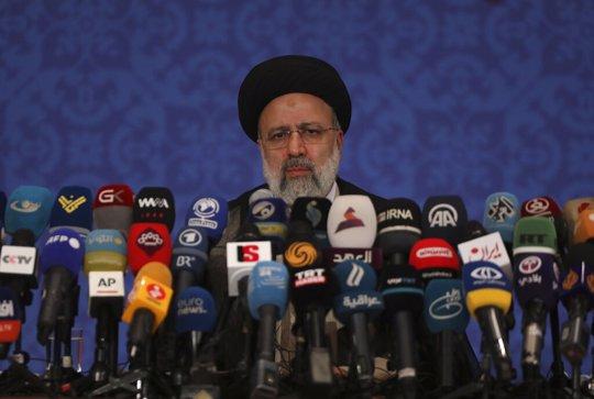 Iran's President Ebrahim Raisi during a news conference