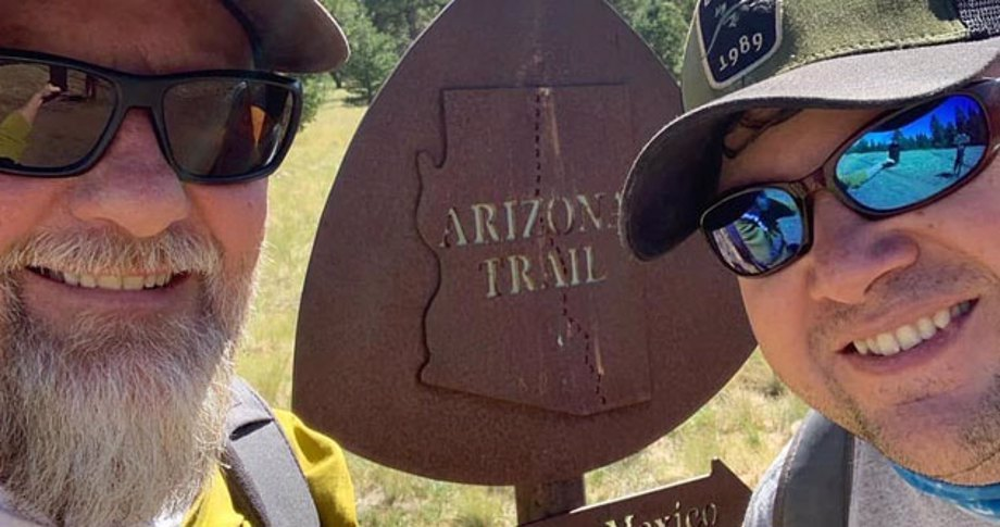 Two men at Arizona Trail head