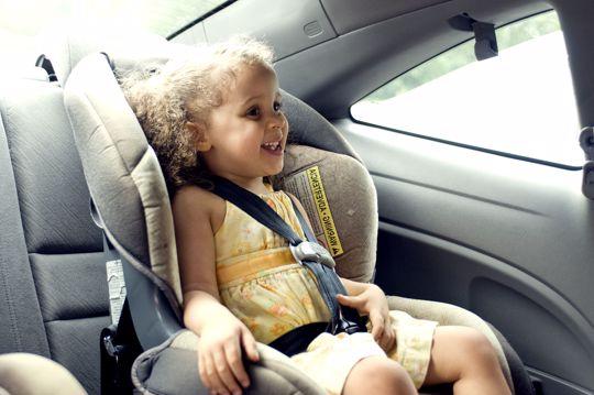 Girl in carseat