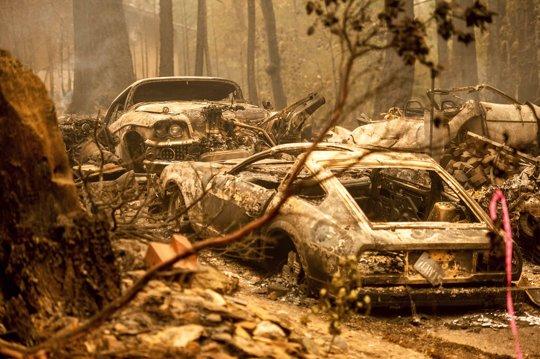 fire damaged cars