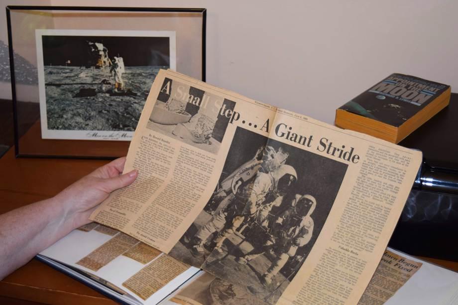 Apollo Moon Landing Newspaper Story