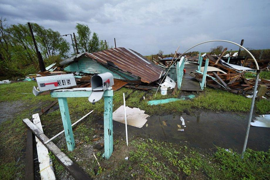 Damage in Louisiana from Hurricane Ida