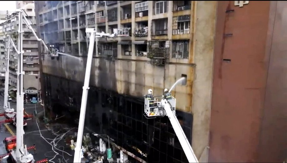 Taiwanese Building Fire