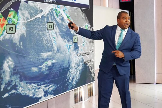 Fox Weather Set with meteorologist Jason Frazer
