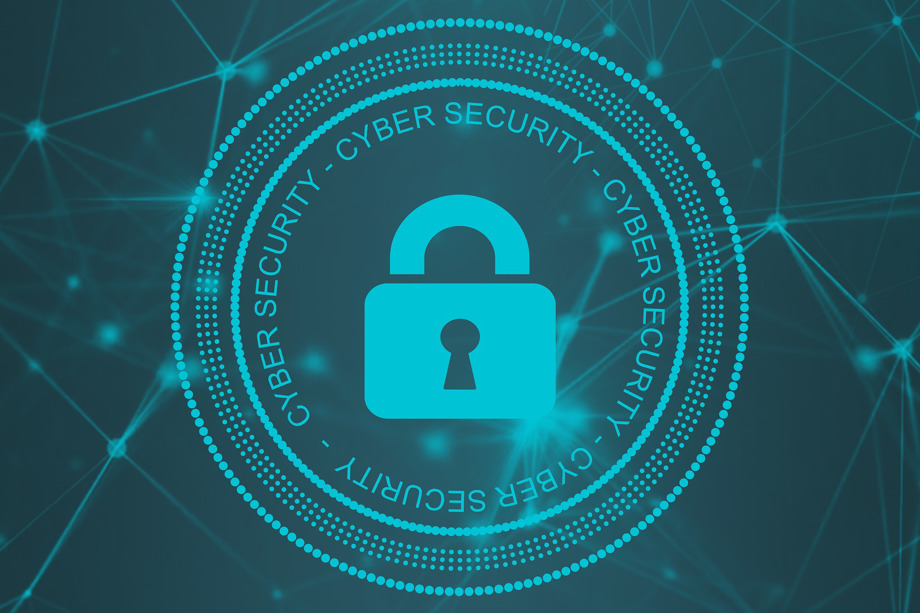 cyber security graphic with lock
