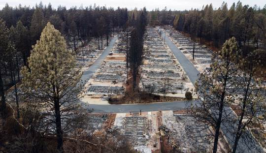 Homes leveled by the Camp Fire