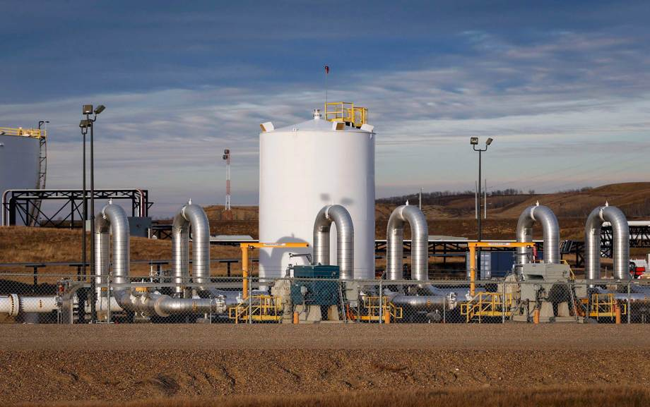 TC Energy's Keystone pipeline facility in Canada