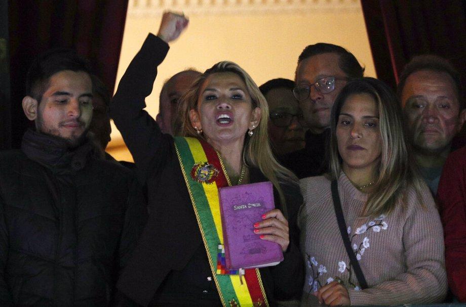 Bolivia's new interim president Jeanine Añez