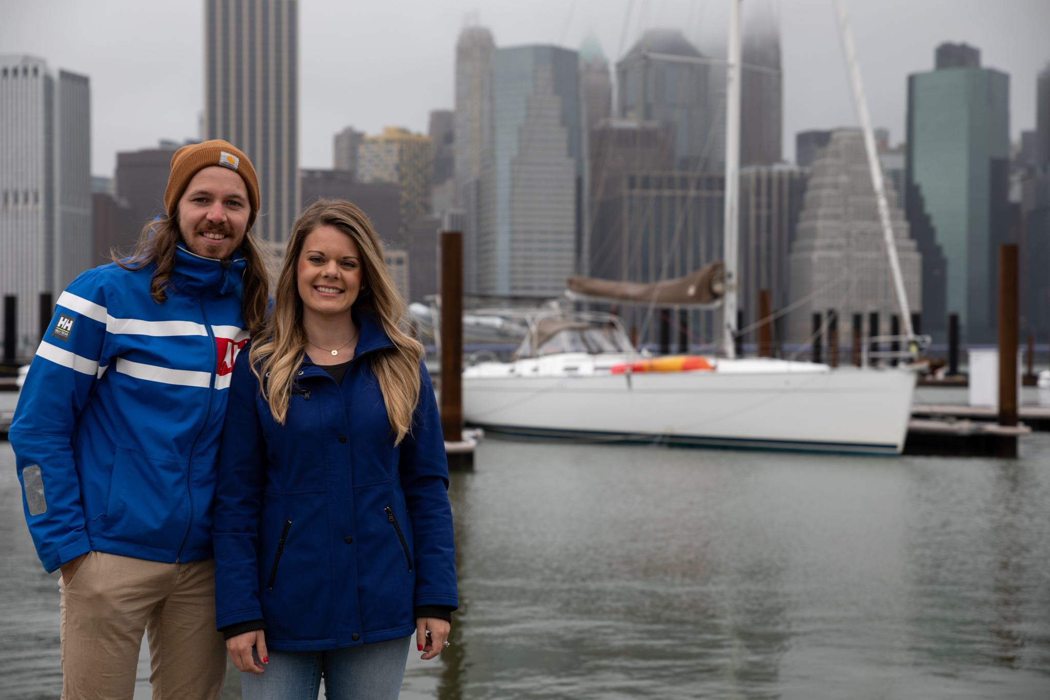 Taylor and Rachel Hartley in New York City Harbor