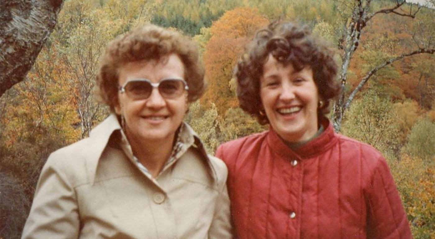 Pen-pals Jill Stretton and Cathie Alexander