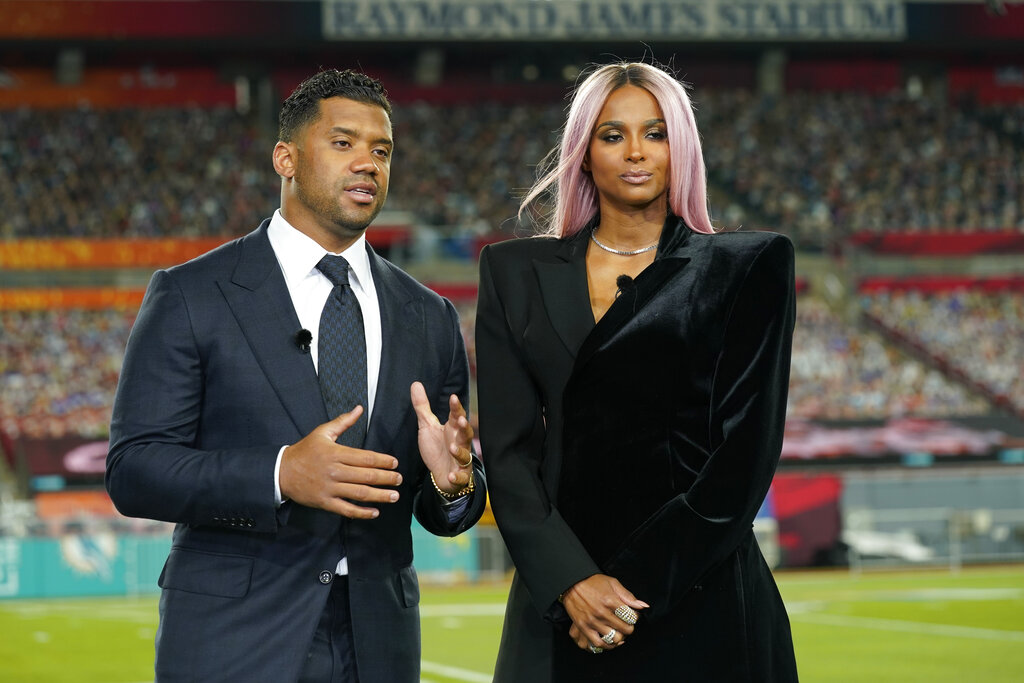 Russell Wilson and his wife Ciara