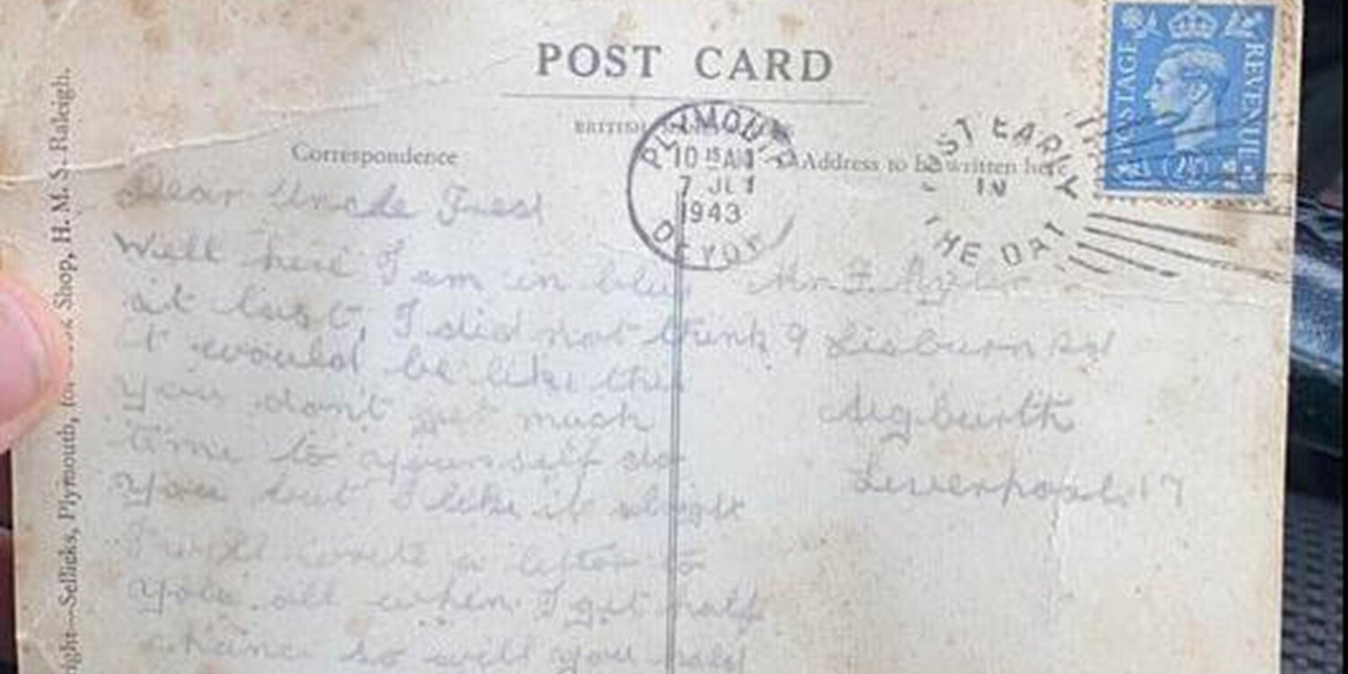WWII Veteran's Postcard Is Finally Delivered To His Family 77 Years Later
