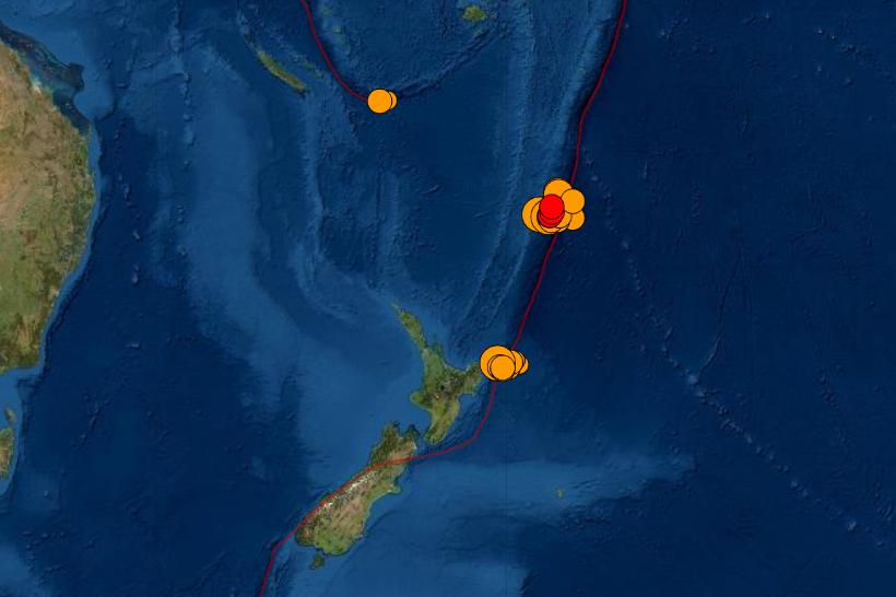 Multiple quakes near New Zealand