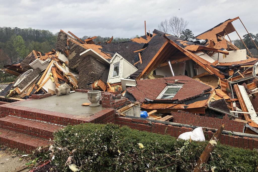 Tornado Damages home in Alabama