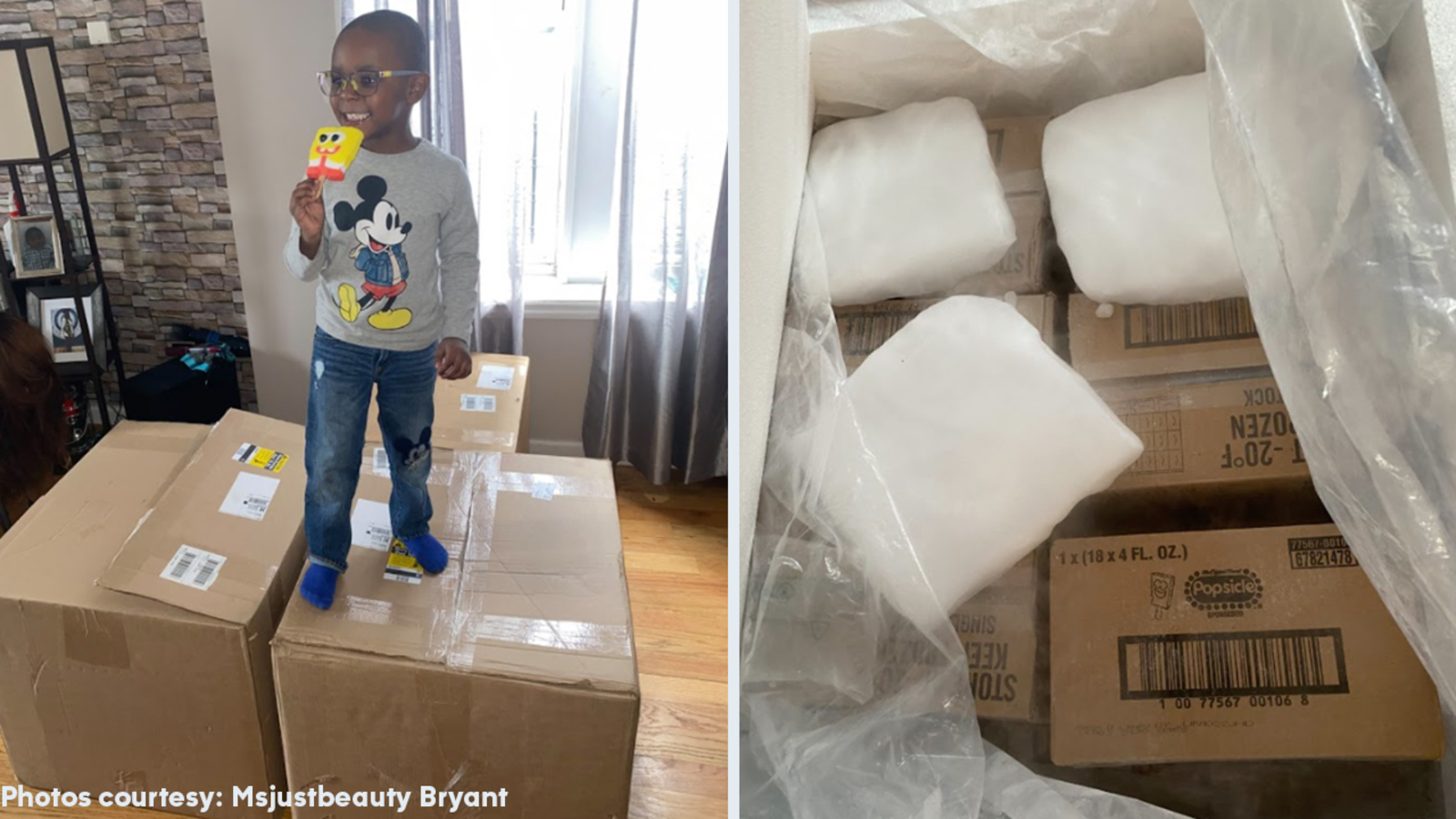 4-year-old had the $2600 worth of SpongeBob popsicles delivered to his aunt's house